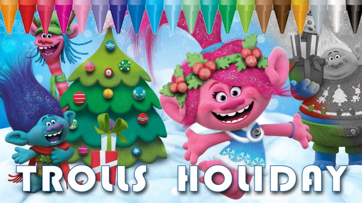 Trolls Holiday Color Christmas – Coloring Pages   Kids Coloring Book ..