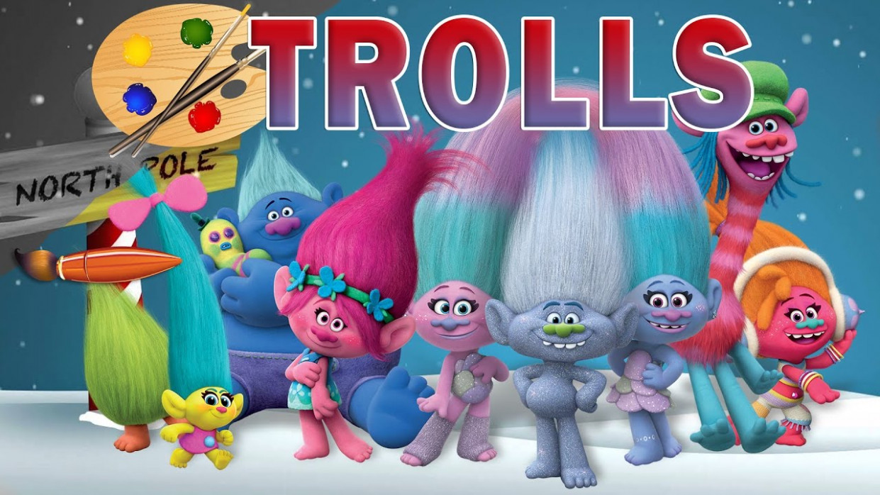 Trolls Movie Christmas – Kids Coloring Book   Coloring Pages for ..