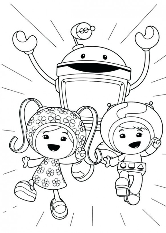 Umizoomi Coloring Page Team Coloring Pages Picture Team Umizoomi ...
