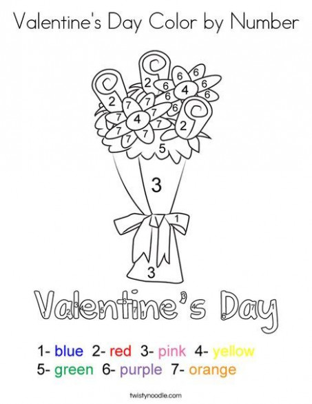 Valentine's Day Color by Number Coloring Page - Twisty Noodle ...