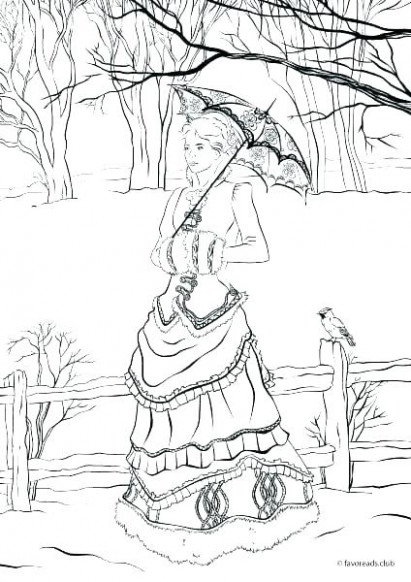 victorian christmas coloring pages – sugarbucketink.com
