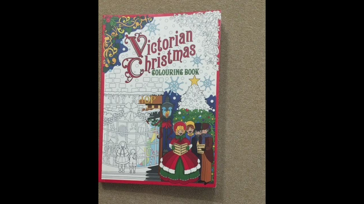 Victorian Christmas flip through – YouTube – Victorian Christmas Coloring Book