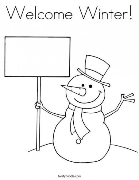 Welcome Winter Coloring Page | Printables | Merry christmas coloring ...