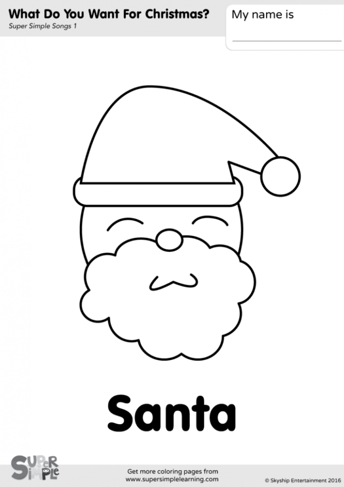 What Do You Want For Christmas? Coloring Pages – Super Simple – Christmas Coloring Pages Simple
