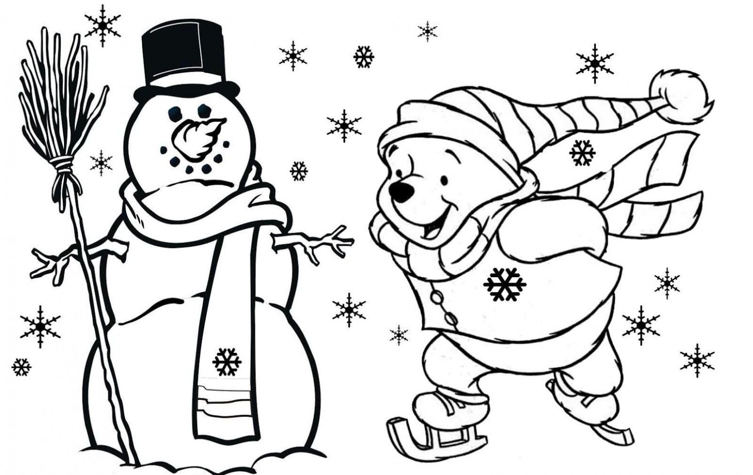 Winnie The Pooh Free Christmas Coloring Pages For Kids | Christmas ..
