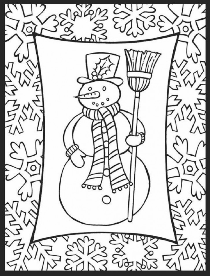 winter coloring pages for middle school | Coloring Pages For Kids ..