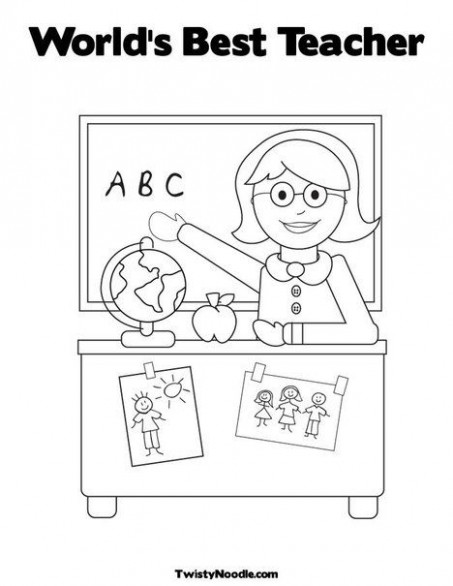 World's Best Teacher coloring page – Ability to customize-teacher ..