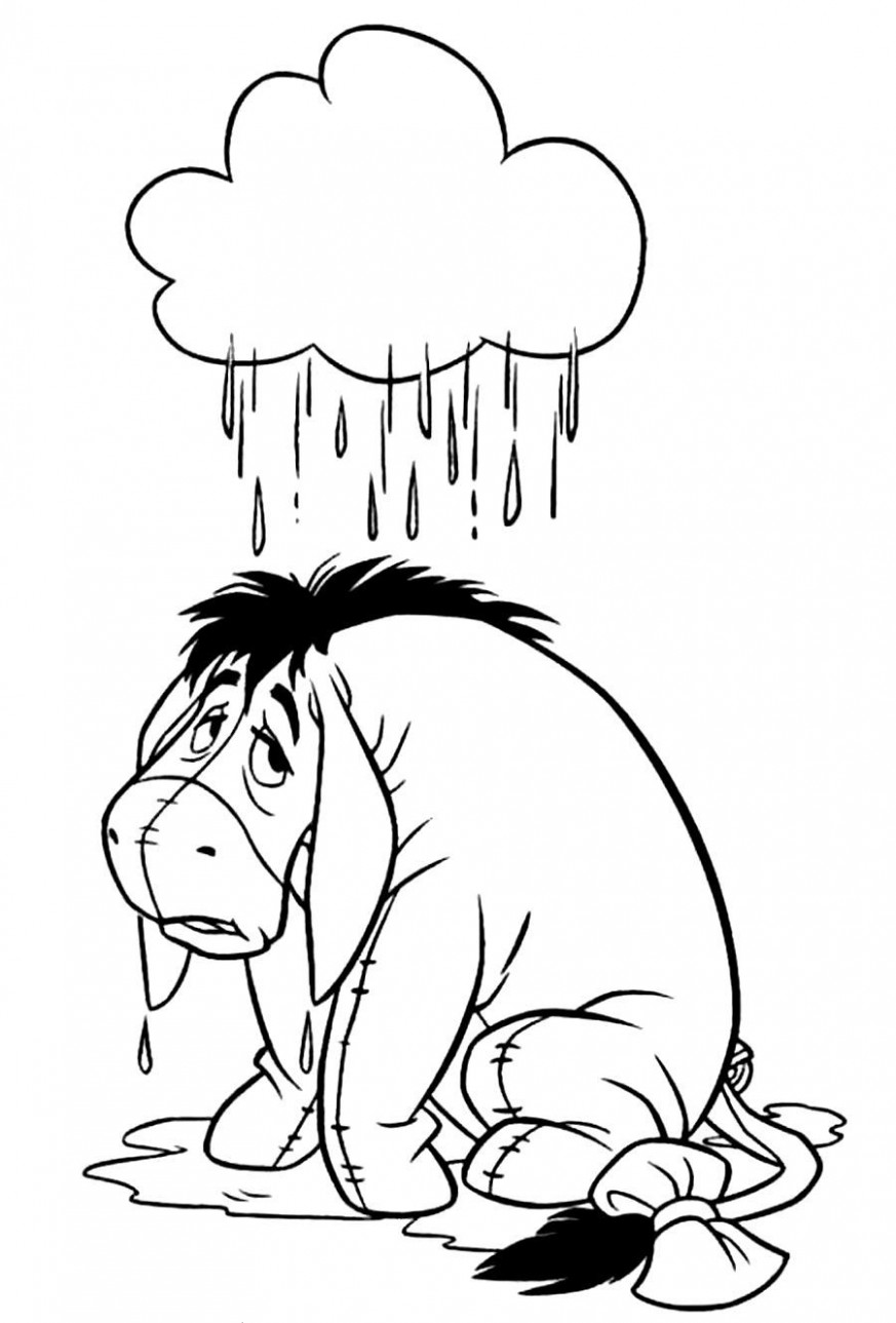 Xmas Stuff For > Eeyore Christmas Coloring Pages | Sam's Art ..