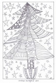 Zentangle Coloring Pages – Christmas Designs 18 by Jooya Teaching ..