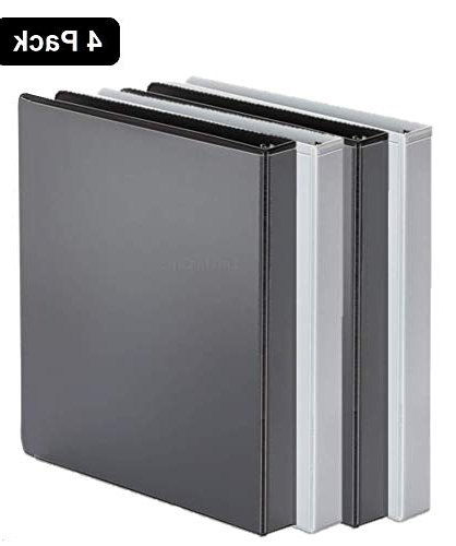 "2 Ring Binder Dwdk 1inthe Fice 3 Ring Binder 1 Inch 1"" Capacity View Binder 2 White & 2 Black 1 Inch"