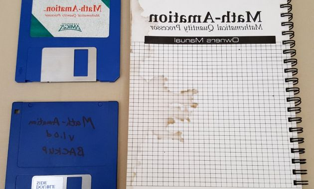 2 Ring Binder X8d1 Math Amation V1 0d Mathematical Quantity Processor by Pp&s for Modore Amiga