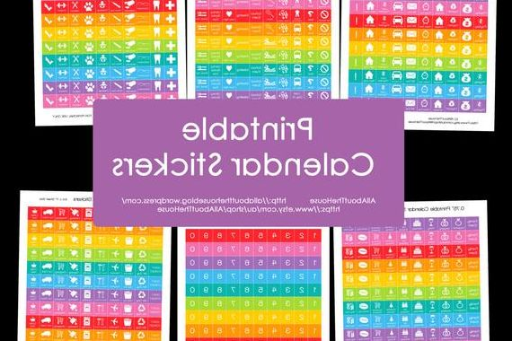 2017 and 2018 Calendar Printable Thdr Calendar Stickers Printable Daily Planner Rainbow Add Agenda organisation Pdf 2017 2018 organisation Happy Planner Plum Paper