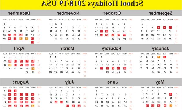 2017 Monthly Calendar with Holidays Whdr School Holidays 2019 Usa Calendar 2019calendar