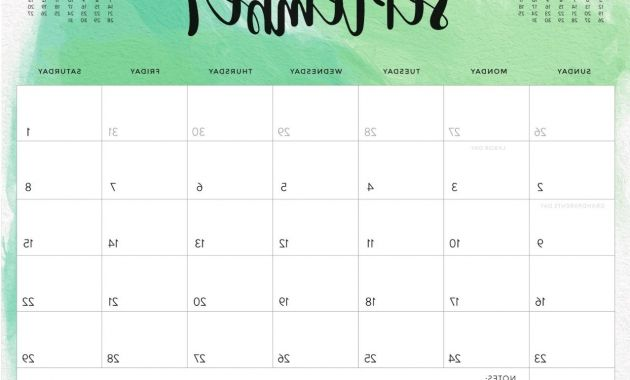 2018 Calendar Printable 3ldq Cute September 2018 Calendar On Pinterest