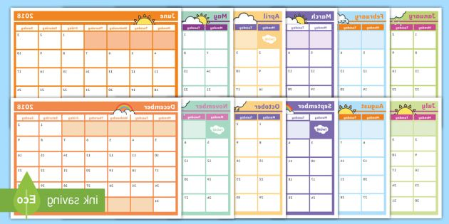 2018 Monthly Calendar Printable Thdr 2018 Monthly Calendar Planning Template Monthly Calendar