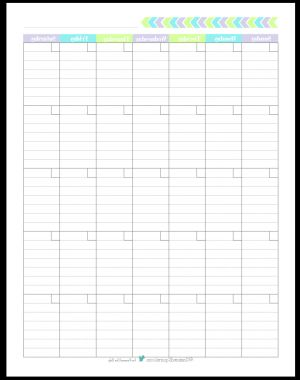 Blank Monthly Calendar Template Tldn Personal Planner Free Printables