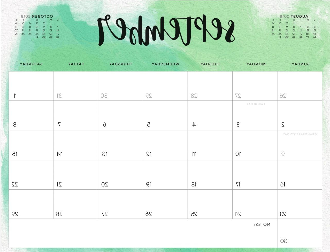 Blank September Calendar U3dh Cute September 2018 Calendar On Pinterest