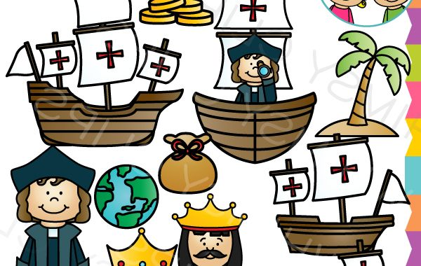 Columbus Day Clipart Jxdu Happy Columbus Day Clip Art Black White Cute Columbus
