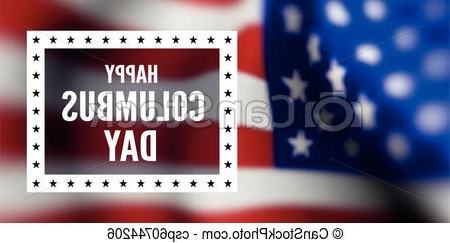 Columbus Day Clipart Txdf Congratulations On the Columbus Day Against the Background Of the Flag Of the United States Of America