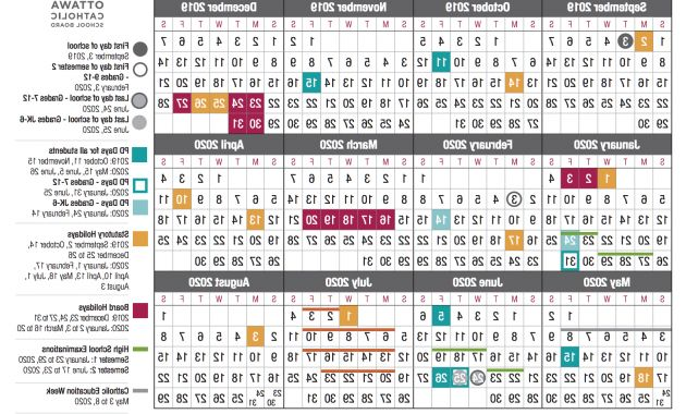 Federal Government Fiscal Year 2020 Calendar 4pde School Year Calendar From the Ocsb