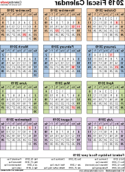 Federal Government Fiscal Year 2020 Calendar Bqdd Fiscal Calendars 2019 Free Printable Word Templates