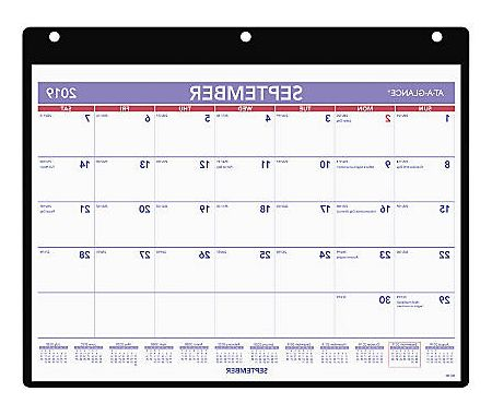 """Federal Government Fiscal Year 2020 Calendar Fmdf at A Glance 16 Month Academic Monthly Desk Wall Calendar 8 1 4"""" X 11"""" Blue White September 2019 to December 2020 Aagsk7 Item"""