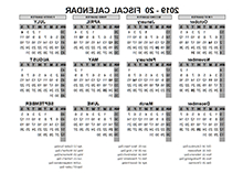 Federal Government Fiscal Year 2020 Calendar Fmdf Printable 2019 Fiscal Year Calendar Template Calendarlabs