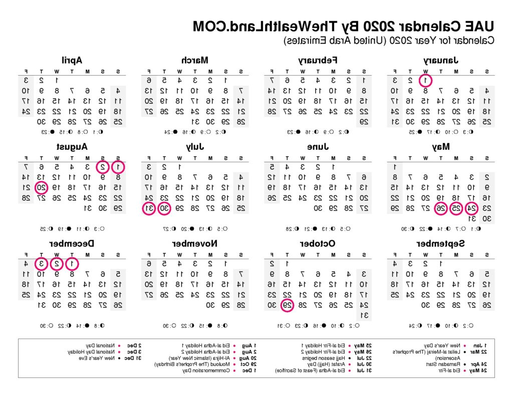 Federal Government Fiscal Year 2020 Calendar Q0d4 2020 Calendar with Uae Public Holidays the Wealth Land