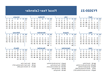 Federal Government Fiscal Year 2020 Calendar Tldn Printable 2020 Fiscal Year Calendar Template Calendarlabs