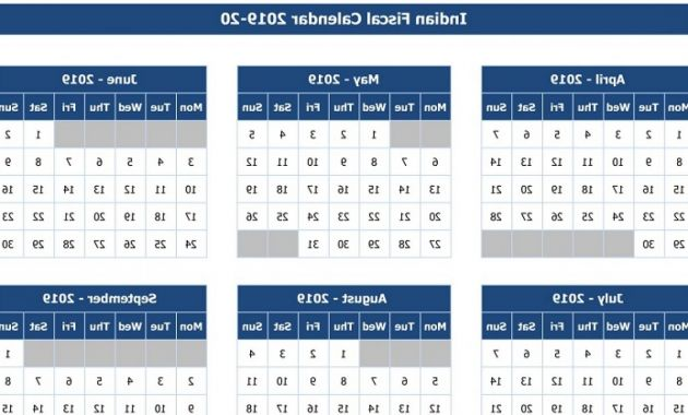 Federal Government Fiscal Year 2020 Calendar Zwd9 Download Indian Fiscal Calendar 2019 20 Excel Template