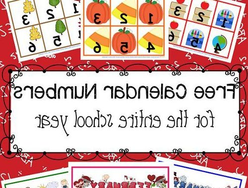Full Year Calendar Zwd9 Full Year Of Calendar Numbers Printable Free Pdfs