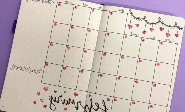 Month at A Glance J7do Pin by Barinia Navarro On Bullet Journal