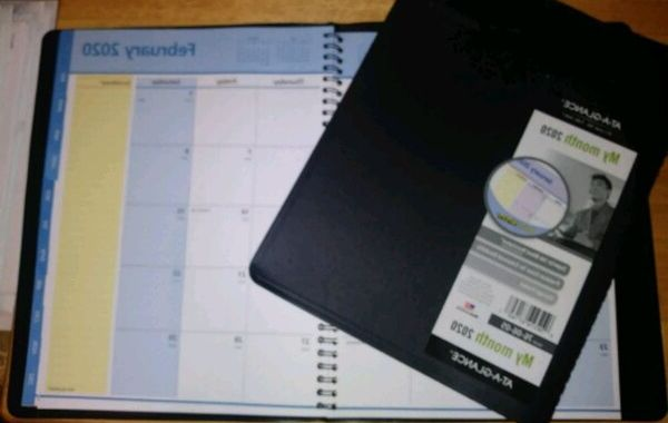 Month at A Glance Jxdu 2020 Monthly Planner