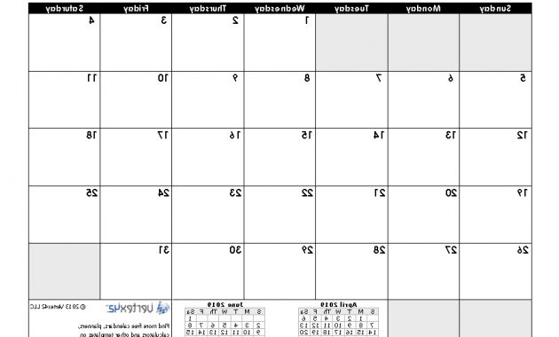 October Printable Calendar Y7du Download A Free May 2019 Calendar From Vertex42