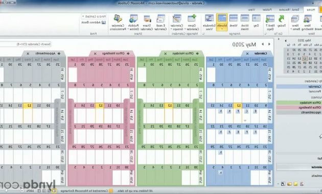 One Page Calendar 2016 87dx Outlook Tutorial How to Work with Multiple Calendars