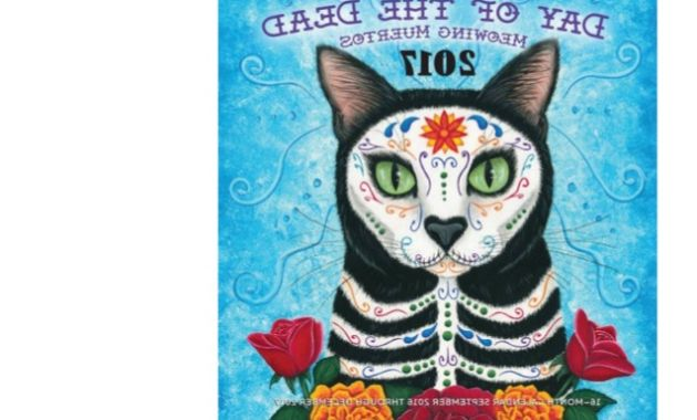 One Page Calendar 2016 8ydm Pdf] Download Day Of the Dead Meowing Muertos 2017 Calendar