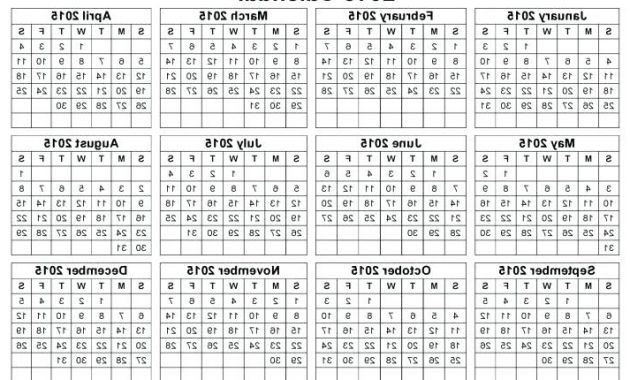 One Page Calendars 2016 Ipdd Printable Coloring Calendar 2015 – Hoogstadfo
