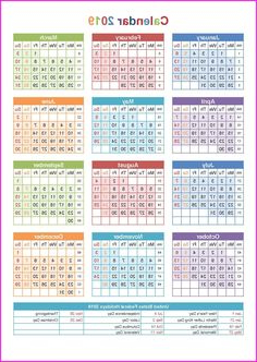 One Page Calendars 2016 Y7du 45 Best 12 Month Calendar In E Page Images In 2019
