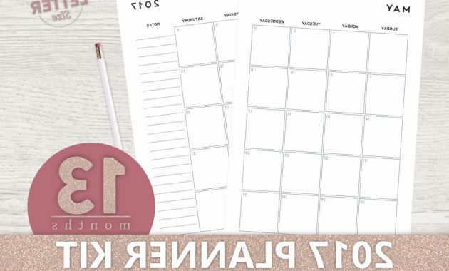 Printable 2017 Calendar J7do Printable Planner 2017 Mo2p Planner Printable Pages Monthly
