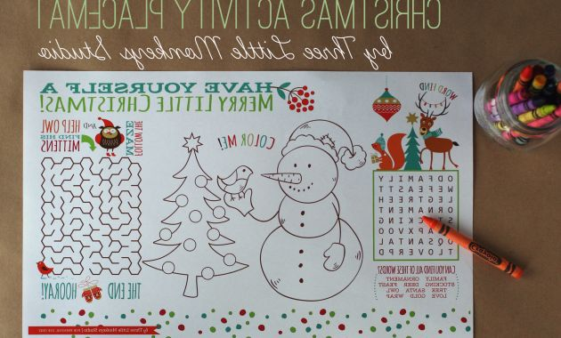 Printable Advent Calendar Drdp Coloring Pages Christmas Activity Placemat Free Printable