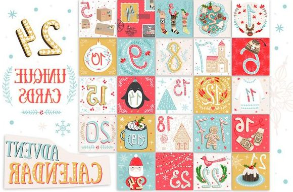 Printable Advent Calendar S1du Printable Christmas Advent Calendar by Le Chernina On