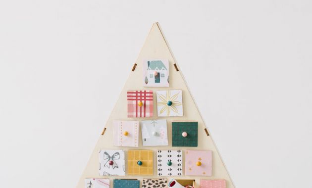 Printable Advent Calendar Tldn Wood Tree Advent Calendar Tutorial with Free Printable