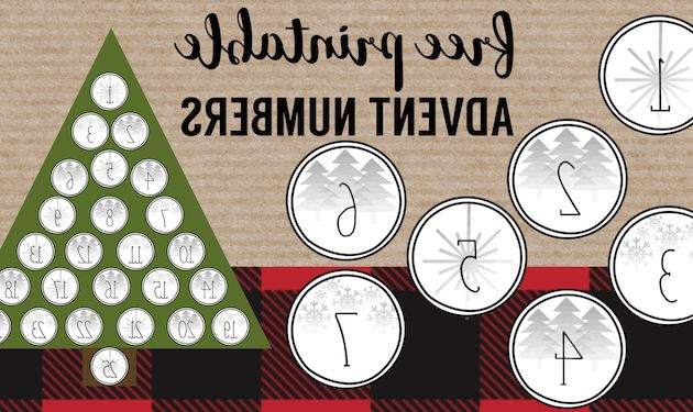 Printable Advent Calendar U3dh Christmas Advent Calendar Printable Numbers Paper Trail Design