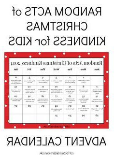 Printable Advent Calendar X8d1 Random Acts Of Christmas Kindness Printable Advent Calendar