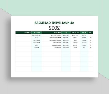Printable Calendar 2016-2017 J7do Annual Calendar 22 Free Word Pdf Documents Download