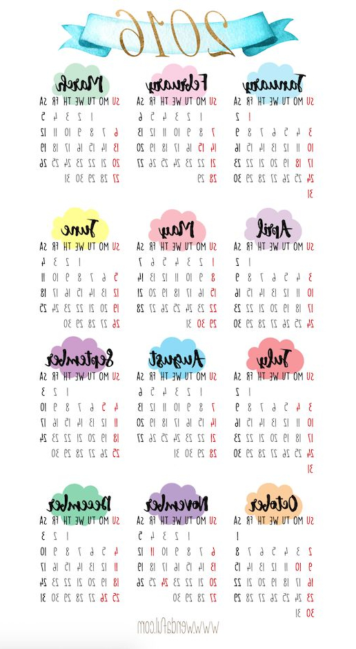 Printable Calendar 2017 Fmdf Pocket Calendars Print Free