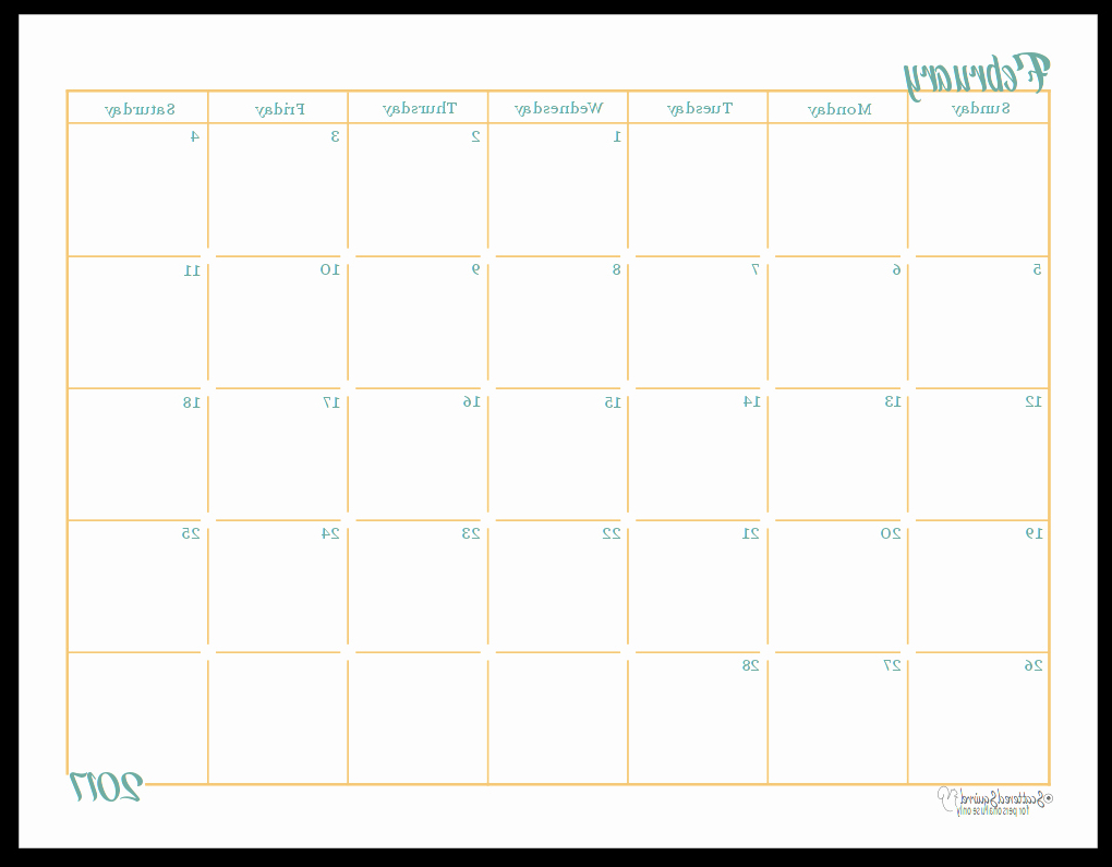 Printable Calendar 2017 Tldn Unique 46 Sample Printable Calendar