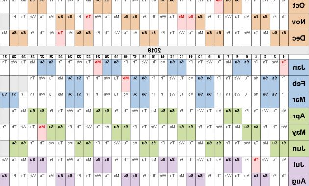 Printable Calendar Of Federal Government Fiscal Year 2019 Dwdk Fiscal Calendars 2019 Free Printable Word Templates