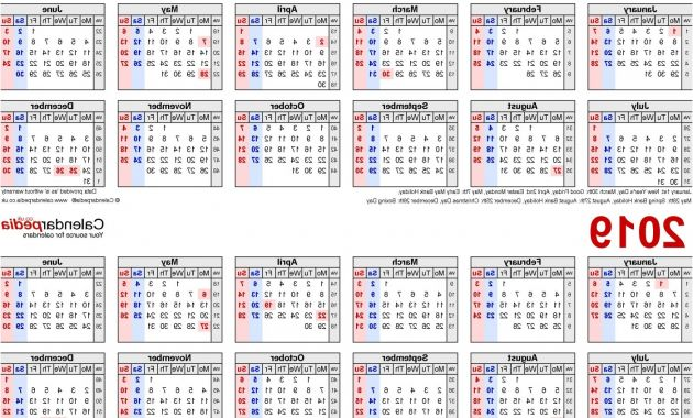 Printable Calendar Of Federal Government Fiscal Year 2019 Etdg 030 Biweekly Payroll Calendar Template Ideas Adp Semi