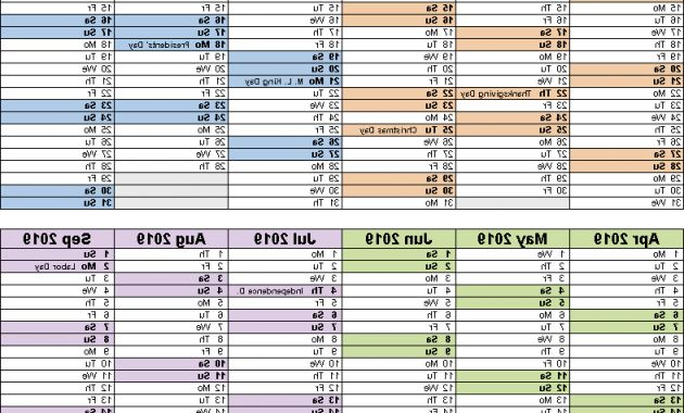 Printable Calendar Of Federal Government Fiscal Year 2019 Irdz Fiscal Calendars 2019 Free Printable Word Templates